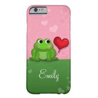 Cute Froggy Heart Balloon iPhone 6 case
