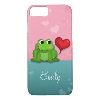 Cute Froggy Heart Balloon iPhone 7 case