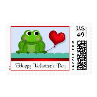 Cute Froggy Heart Valentine's Day Postage Stamps