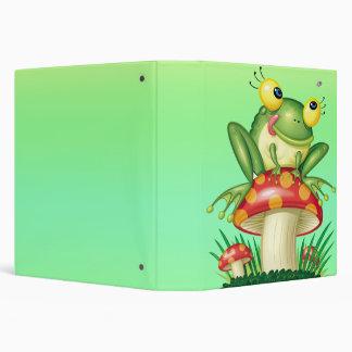 cute froggy on toadstool binder
