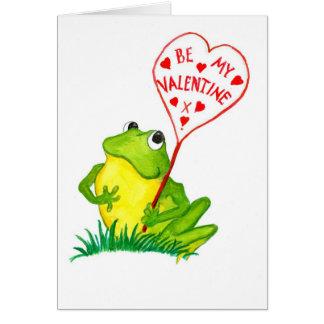 Cute Froggy Valentine Card