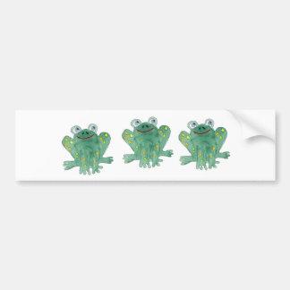Cute Frogs Bumper Sticker Car Bumper Sticker