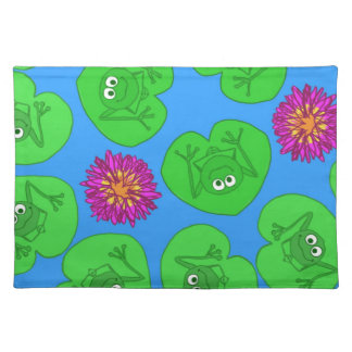 Cute frogs cloth placemat