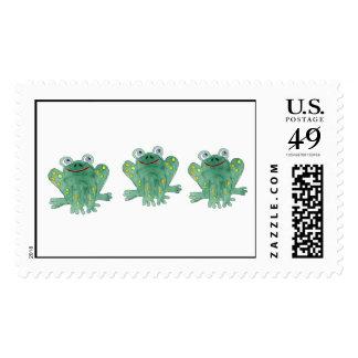 Cute Frogs Custom Postage