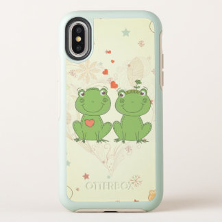 cute frogs in love vector cartoon OtterBox symmetry iPhone x case