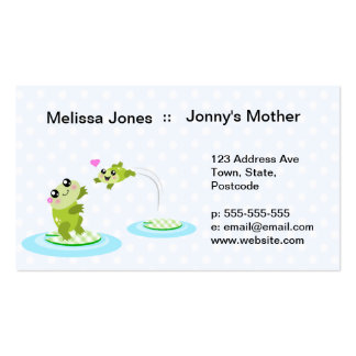 Cute frogs - kawaii mother and child frog business cards