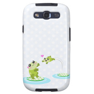 Cute frogs - kawaii mother and child frog galaxy SIII cases