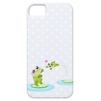 Cute frogs - kawaii mother and child frog iPhone 5 cover