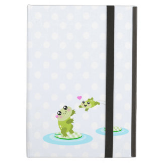 Cute frogs - kawaii mother and child frog iPad cases