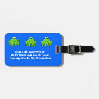 Cute Frogs Luggage Tag