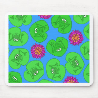 Cute frogs mouse pad