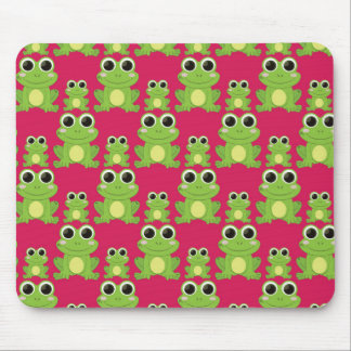 Cute frogs pattern mouse pad