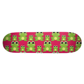 Cute frogs pattern skateboard deck