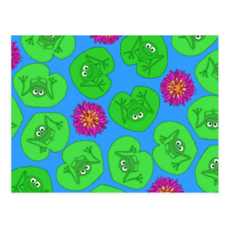 Cute frogs postcard