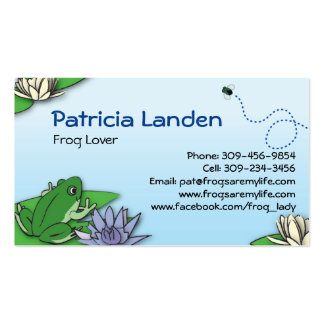 Cute Frogs Profile Cards Business Card