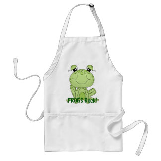Cute Frogs Rock Love Frog Products Adult Apron