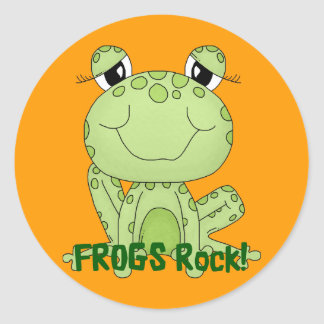 Cute Frogs Rock Love Frog Products Classic Round Sticker