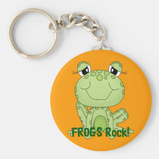 Cute Frogs Rock Love Frog Products Keychain