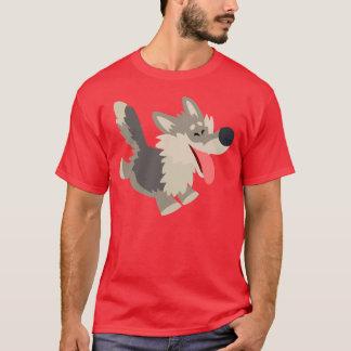 Cute Frolicsome Cartoon Wolf T-Shirt