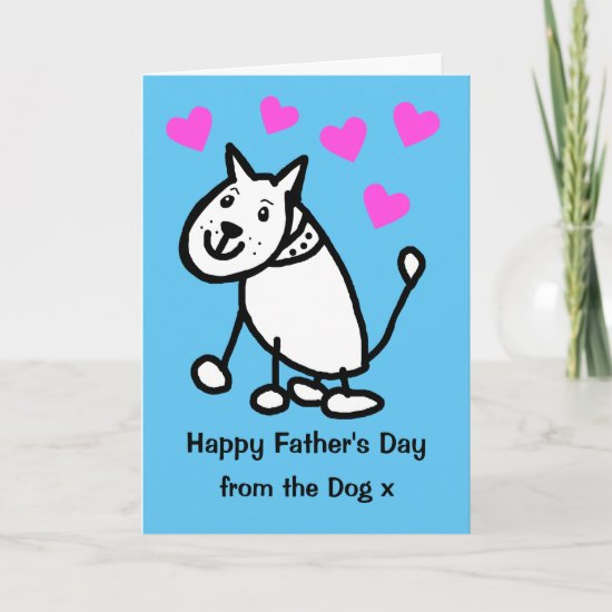 Cute From the Dog Cartoon Fathers Day Card