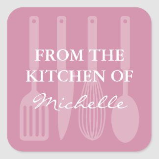 Cute From the kitchen of cooking utensils stickers