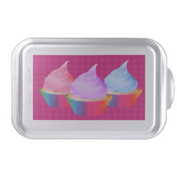 Cute Frosted Cupcakes in Rainbow Baking Cups Cake Pan