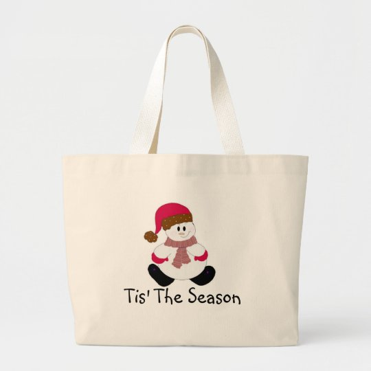Cute Frosty Large Tote Bag