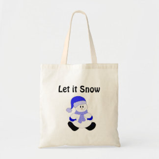 Cute Frosty - Let it Snow Tote Bag