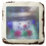 Cute Frosty Snowman Brownie