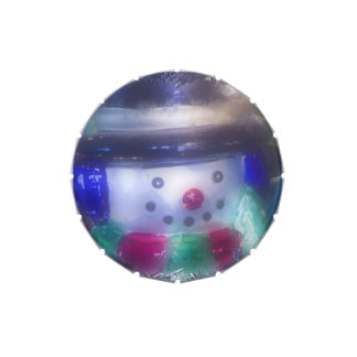 Cute Frosty Snowman Jelly Belly Tin