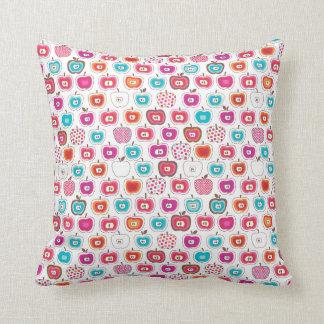 Cute fruit apple retro pattern throw pillow