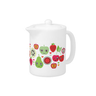 Cute fruit apple strawberry retro pattern