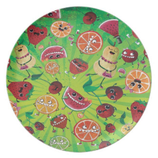 Cute Fruit Madness Dinner Plates