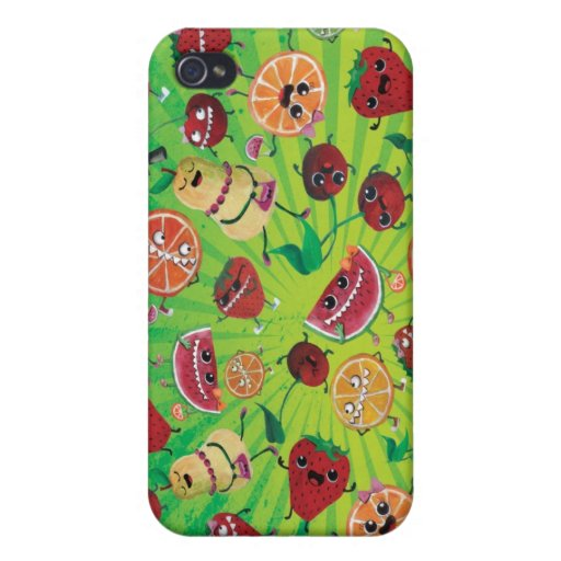 Cute Fruit Madness iPhone 4/4S Cover