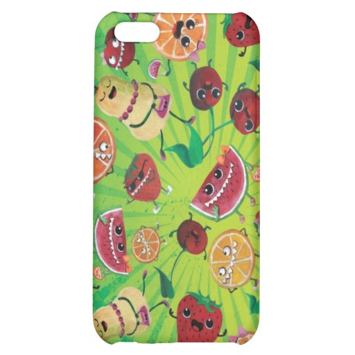 Cute Fruit Madness Cover For iPhone 5C