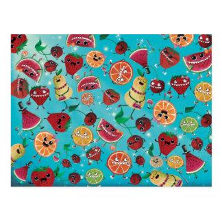 Cute Fruit Madness Postcards