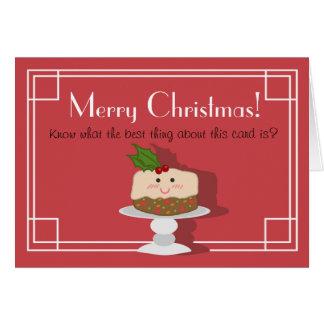 Cute Fruitcake Card
