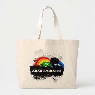 Cute Fruity Arab Emirates Large Tote Bag