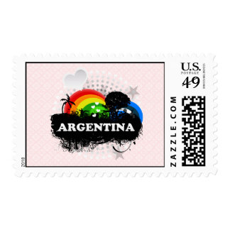 Cute Fruity Argentina Postage Stamps