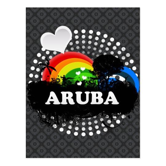 Cute Fruity Aruba Postcard