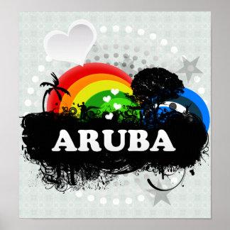 Cute Fruity Aruba Print