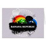 Cute Fruity Banana Republic Greeting Cards