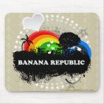 Cute Fruity Banana Republic Mouse Pad