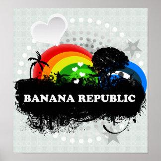 Cute Fruity Banana Republic Print