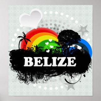Cute Fruity Belize Poster