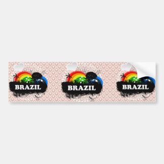Cute Fruity Brazil Car Bumper Sticker