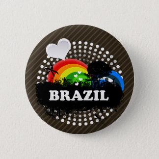 Cute Fruity Brazil Button