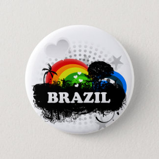 Cute Fruity Brazil Pinback Button