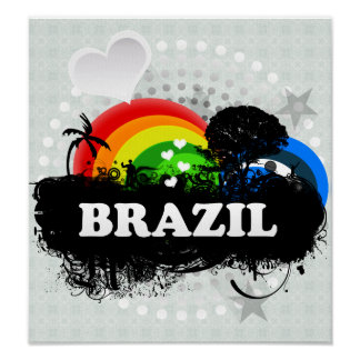 Cute Fruity Brazil Poster
