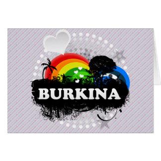Cute Fruity Burkina Greeting Card